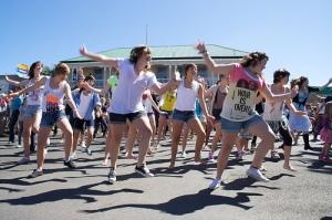 350 Whaingaroa Flashmob Dance