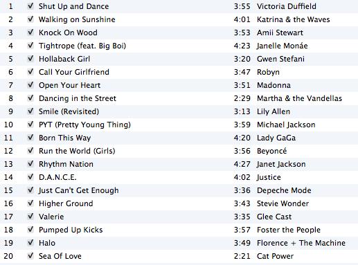 DJ Suzie G Nov 27 playlist