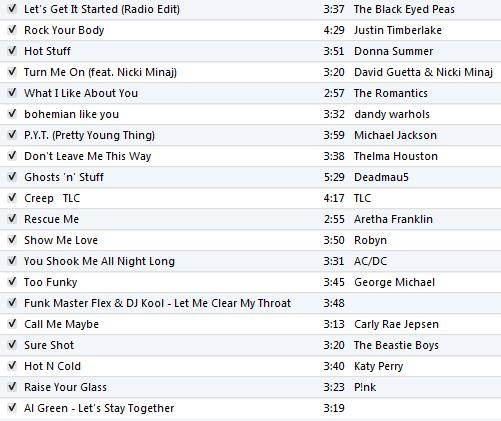DJ Dana-mite playlist - May 27, 2012