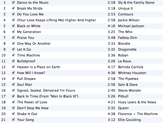 DJ Suzie G June 2012 playlist