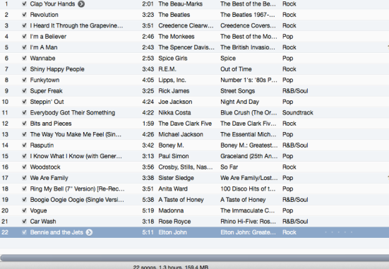 DJ Electra's April 6th playlist